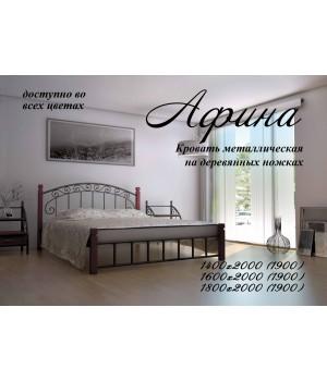 Кровать Афина  на деревянных ножках
