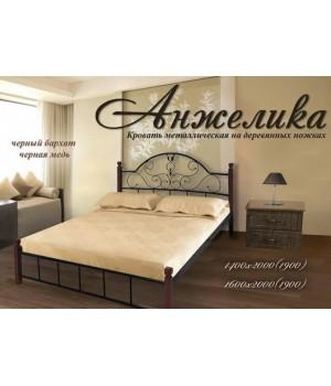Кровать Анжелика  на деревянных ножках