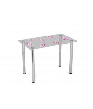 Стеклянный стол Батерфляй