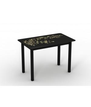 Стеклянный стол Монарх Черный зефир