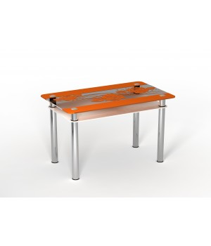 Стеклянный стол Фрэш Роза