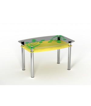 Стеклянный стол Желтые тюльпаны