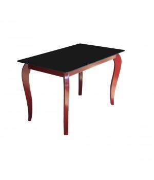 Стеклянный стол Император Редвуд Блек